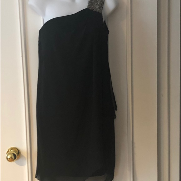Calvin Klein one shoulder evening dress